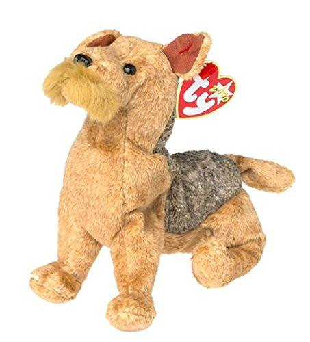 75caf5130ed Ty Beanie Babies - Zodiac Fluffly Dog with Gold Paw bottoms  Toy ...