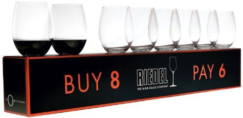 "Riedel ""O"" Cabernet / Merlot Red Wine Set (Box of 8) - DimpzBazaar.com"