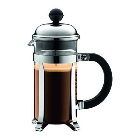 Bodum Bodum Chambord 3 cup French Press Coffee Maker, 12 oz., Chrome - DimpzBazaar.com