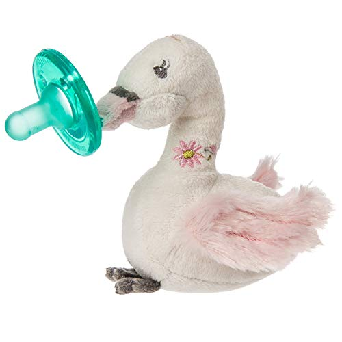 Mary Meyer Mary Meyer WubbaNub Infant Soothie Pacifier with Plush Toy ~ Itsy Glitzy Swan - DimpzBazaar.com