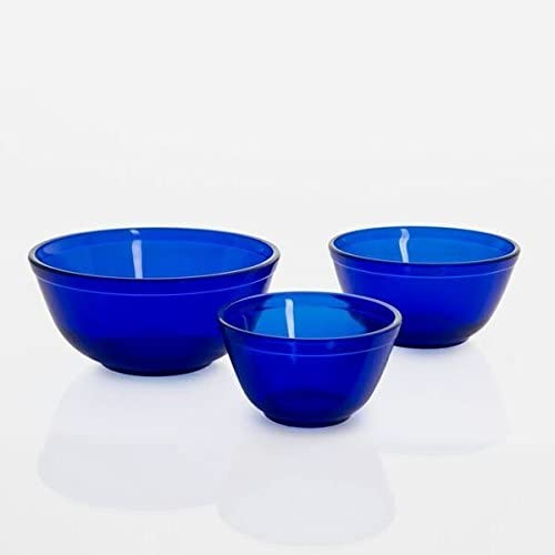 Mosser Glass Mosser Glass Mixing Bowl Set - Set of 3 - Cobalt - DimpzBazaar.com