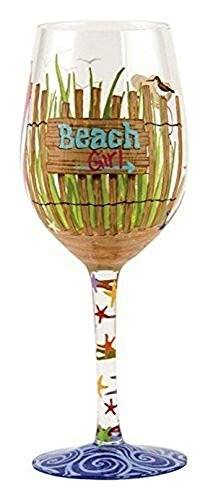 Enesco Lolita Lolita from Enesco Beach Girl Wine Glass, Multicolor - DimpzBazaar.com