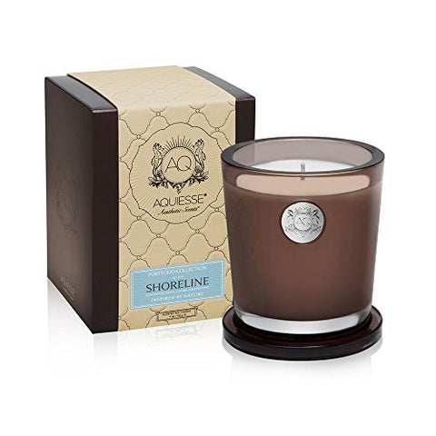 Aquiesse Aquiesse Portfolio Collection Large Candle - Shoreline (10 oz) - DimpzBazaar.com