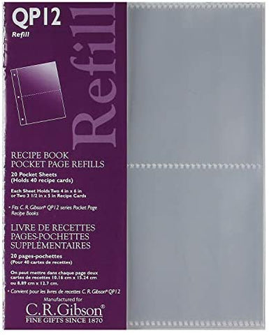 C.R. Gibson C.R. Gibson Recipe Book, Durable 3-Ring Binder, Holds 40 Recipe Cards - DimpzBazaar.com