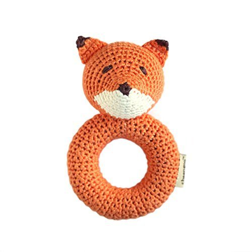 Cheengoo Cheengoo Organic Crocheted Fox Ring Rattle - DimpzBazaar.com