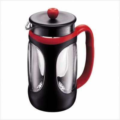 Bodum Bodum French Press - 8 Cup Young Press - Black And Red - 10096-364 - DimpzBazaar.com