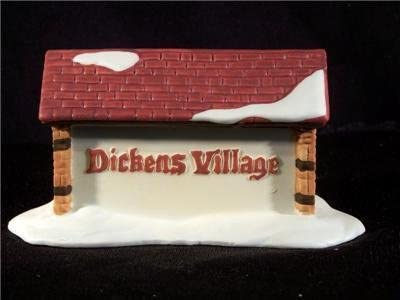 "Dimpz Bazaar Department 56 "" Dickens Village Sign"" Retired - DimpzBazaar.com"