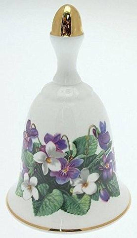 Danbury Mint Danbury Mint Sumner Collection Wildflower Bells - Sweet Violet Design - April - CLT351 - DimpzBazaar.com