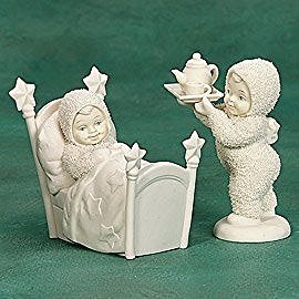 Snowbabies Breakfast In Bed (2 piece set) ... 69072 - DimpzBazaar.com