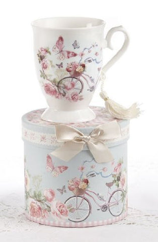 Delton Porcelain Tea / Coffee Mug in Gift Box - Cycle by Delton - DimpzBazaar.com