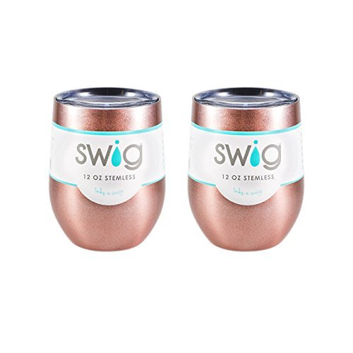 SWIG Occasionally Made SWIG 12oz Wine Tumbler TWO Pack (Rose Gold) - DimpzBazaar.com