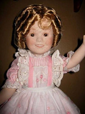 "Ideal Shirley Temple 1982 Shirley Temple Porcelain Doll, Movable Limbs & Original Dress, 16"" - DimpzBazaar.com"