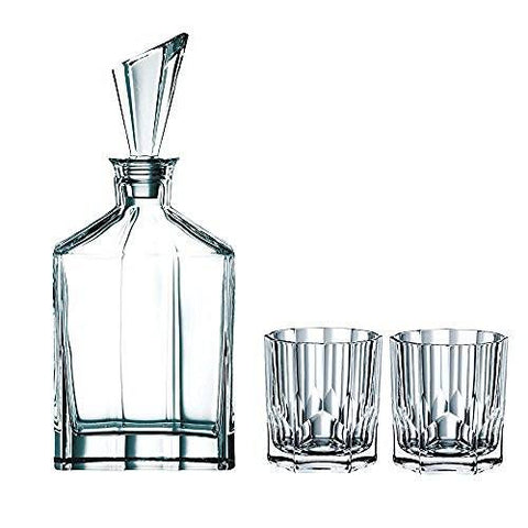 Riedel Nachtmann Nachtmann Aspen Decanter Set with Stopper and Whisky Tumblers - DimpzBazaar.com