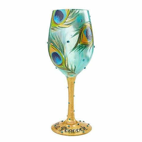 Enesco Lolita Lolita by Enesco Pretty As A Peacock Wine Glass - DimpzBazaar.com