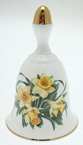 Danbury Mint Danbury Mint Sumner Collection Wildflower Bells - Daffodil Design - March - CLT345 - DimpzBazaar.com