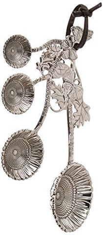 Ganz Ganz 4-Piece Measuring Spoons Set, Sunflower - DimpzBazaar.com