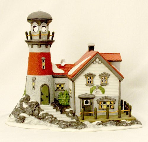 "Dimpz Bazaar Department 56 - New England Village Series - ""PIGEONHEAD LIGHTHOUSE"" - DimpzBazaar.com"