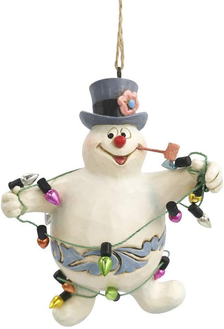 Enesco Enesco Frosty The Snowman by Jim Shore Frosty in Lights Ornament- Nostalgic Collectible Christmas Figurine 6007346 - DimpzBazaar.com