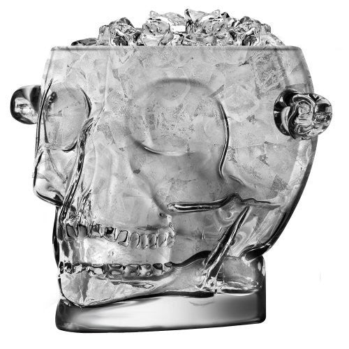 Final Touch Final Touch Glass Brain Freeze Skull Ice Bucket - DimpzBazaar.com