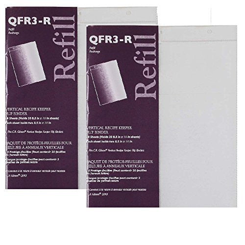 C.R. Gibson C.R. Gibson 10 Count Refill for Vertical Flip Recipe Keeper - 2 pack - DimpzBazaar.com