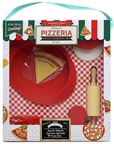 Handstand Kitchen Handstand Kitchen Authentic Pizzeria 9-piece Pizza Making Set for Kids - DimpzBazaar.com