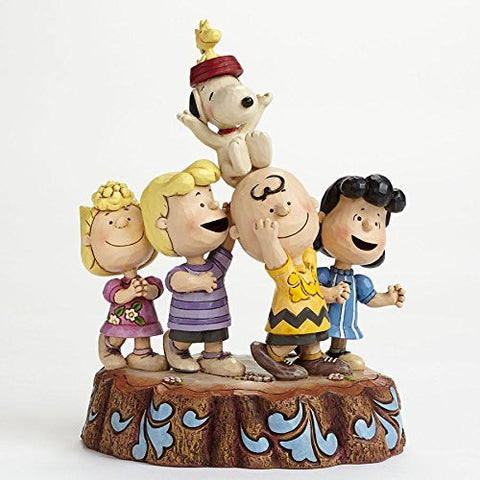 Enesco Jim Shore Peanuts Charlie Brown 65th Anniversary Hooray Figurine - DimpzBazaar.com