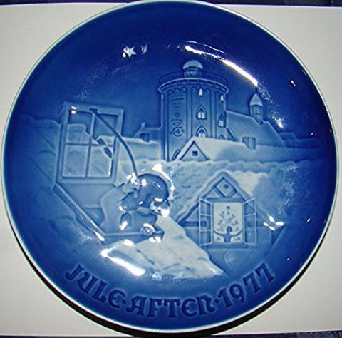 Bing & Grondahl Bing & Grondahl Annual Hand Decorated Christmas Plate 1977 - DimpzBazaar.com