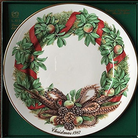 Lenox Lenox 1987 Colonial Christmas Wreath Plate, Pennsylvania, The Seventh Colony - DimpzBazaar.com