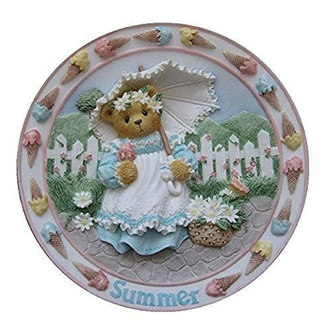 "Cherished Teddies Cherished Teddies - Summer - 6"" Decorative Teddy Bear Plate - DimpzBazaar.com"
