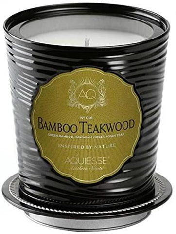 Aquiesse Aquiesse Large Scented Soy Candle Tin Bamboo Teakwood 11oz Approx 100 Hour Burn - DimpzBazaar.com