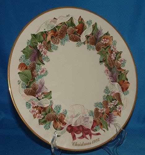 Lenox Lenox 1992 Colonial Christmas Wreath Plate, North Carolina, The Twelfth Colony - DimpzBazaar.com