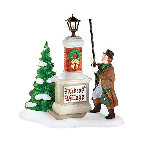 "Department 56 ""Ye Olde Lamplighter"" Dickens Village Sign - DimpzBazaar.com"