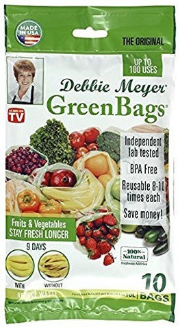 Debbie Meyer Debbie Meyer GreenBags Freshness-Preserving Food/Flower Storage Bags (Various Sizes, 20-Pack) - DimpzBazaar.com