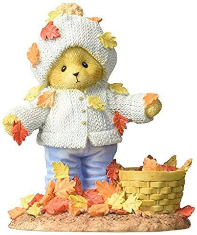 "Cherished Teddies Enesco Cherished Teddies Collection Bear Playing with Leaves Figurine, 4.125"" - DimpzBazaar.com"
