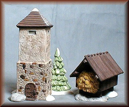 "Department 56 ""Silo & Hay Shed"" Dept. 56 Dickens Village set of 2, Item #59501 - DimpzBazaar.com"