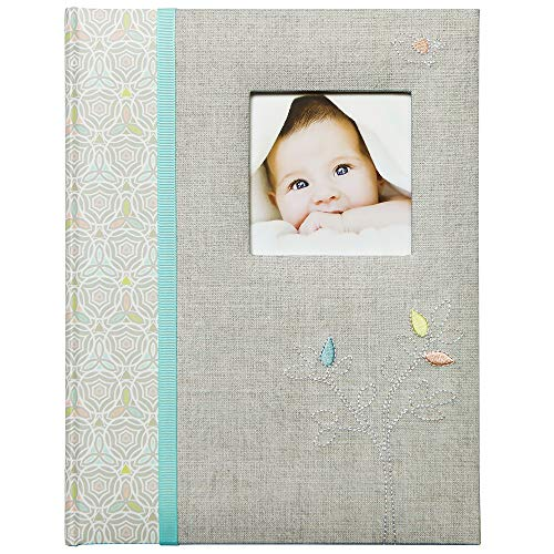 C.R. Gibson C.R. Gibson Grey 'Linen Tree' Loose Leaf First Five Years Memory Baby Book, 64pgs, - DimpzBazaar.com