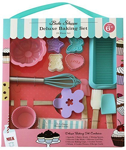 Handstand Kitchen Handstand Kitchen Bake Shoppe 25-piece Deluxe Baking Set for Kids - DimpzBazaar.com