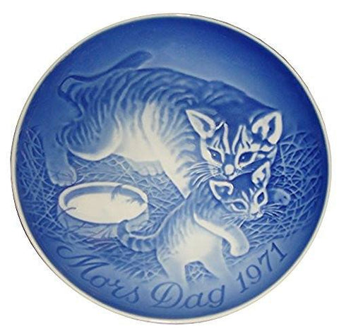 Bing & Grondahl BING & GRONDAHL 1971 Mother's Day Porcelin Plate - Cat With Kitten - DimpzBazaar.com
