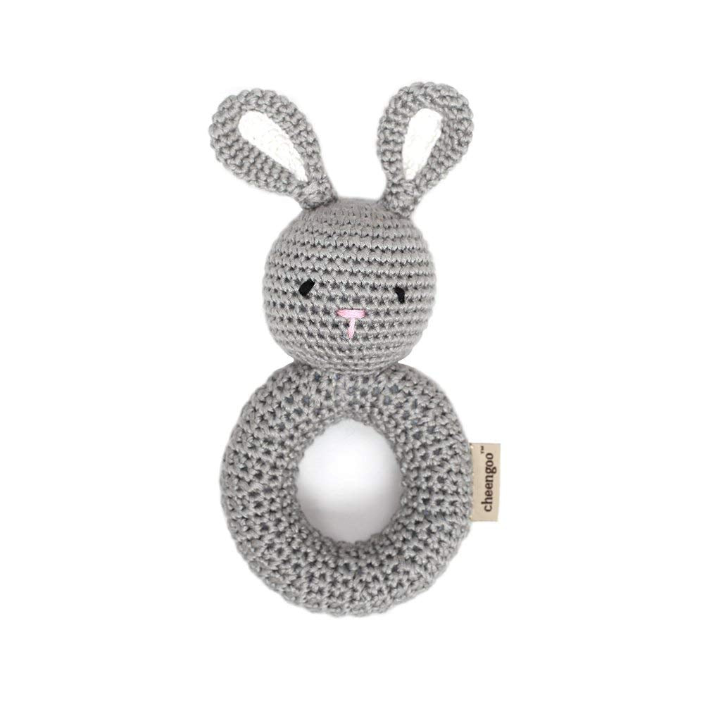 Cheengoo Cheengoo Organic Crocheted Bunny Ring Rattle - DimpzBazaar.com
