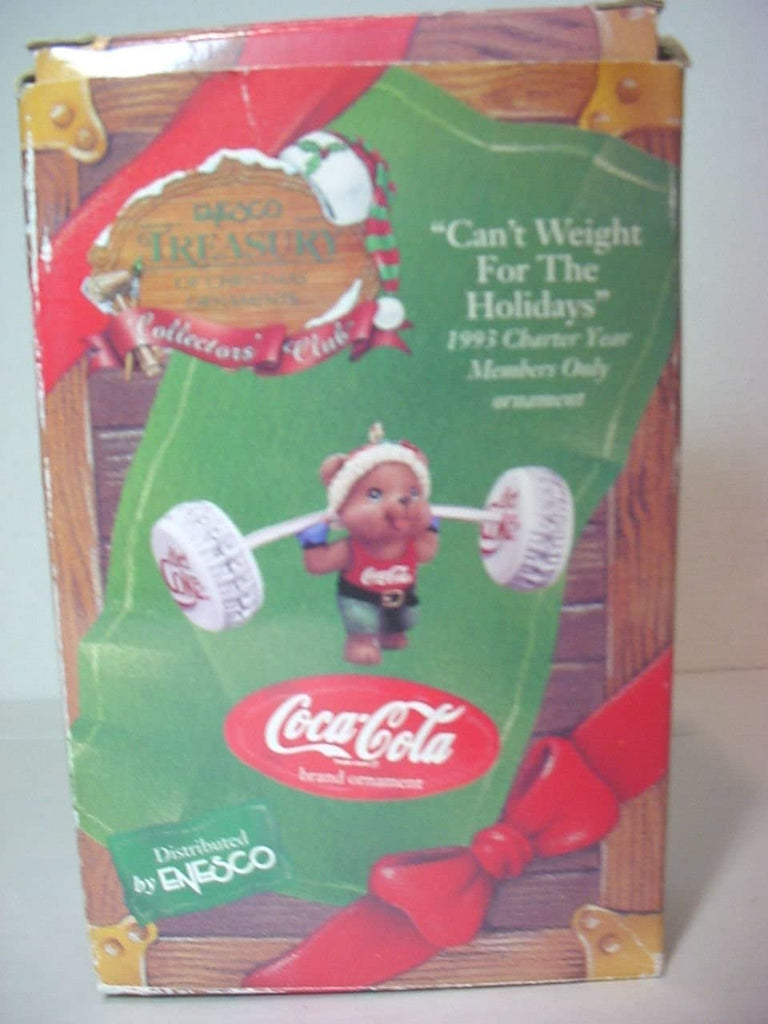 Dimpz Bazaar Coca-Cola Diet Coke Can't Weight For the Holidays 1993 Enesco Treasury of Christmas Ornaments - DimpzBazaar.com