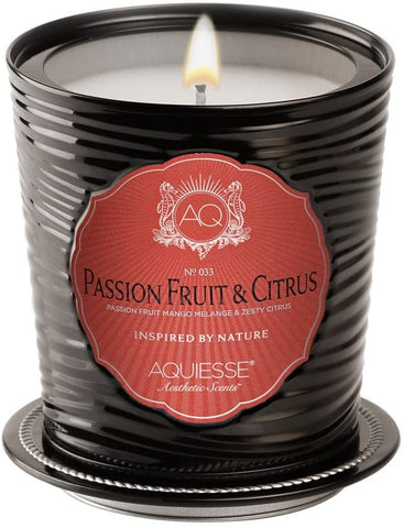 Aquiesse Aquiesse Passion Fruit and Citrus Luxe Tin Candle - DimpzBazaar.com
