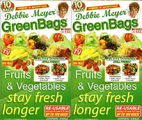 Debbie Meyer Debbie Meyer GreenBags - 20 Bags (M/L Set) (2- 10 Bag Sets) - DimpzBazaar.com