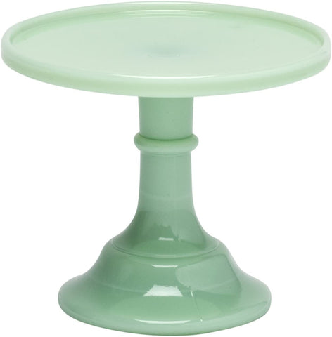 "Mosser Glass Jadeite 6"" Glass Cake Stand - By Mosser Glass - DimpzBazaar.com"
