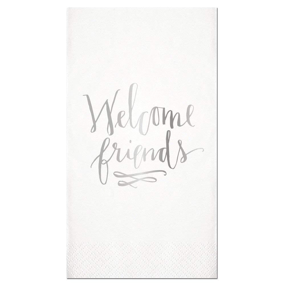 "Slant Collections Slant Collections ""Welcome Friends"" Paper Guest Towels - DimpzBazaar.com"