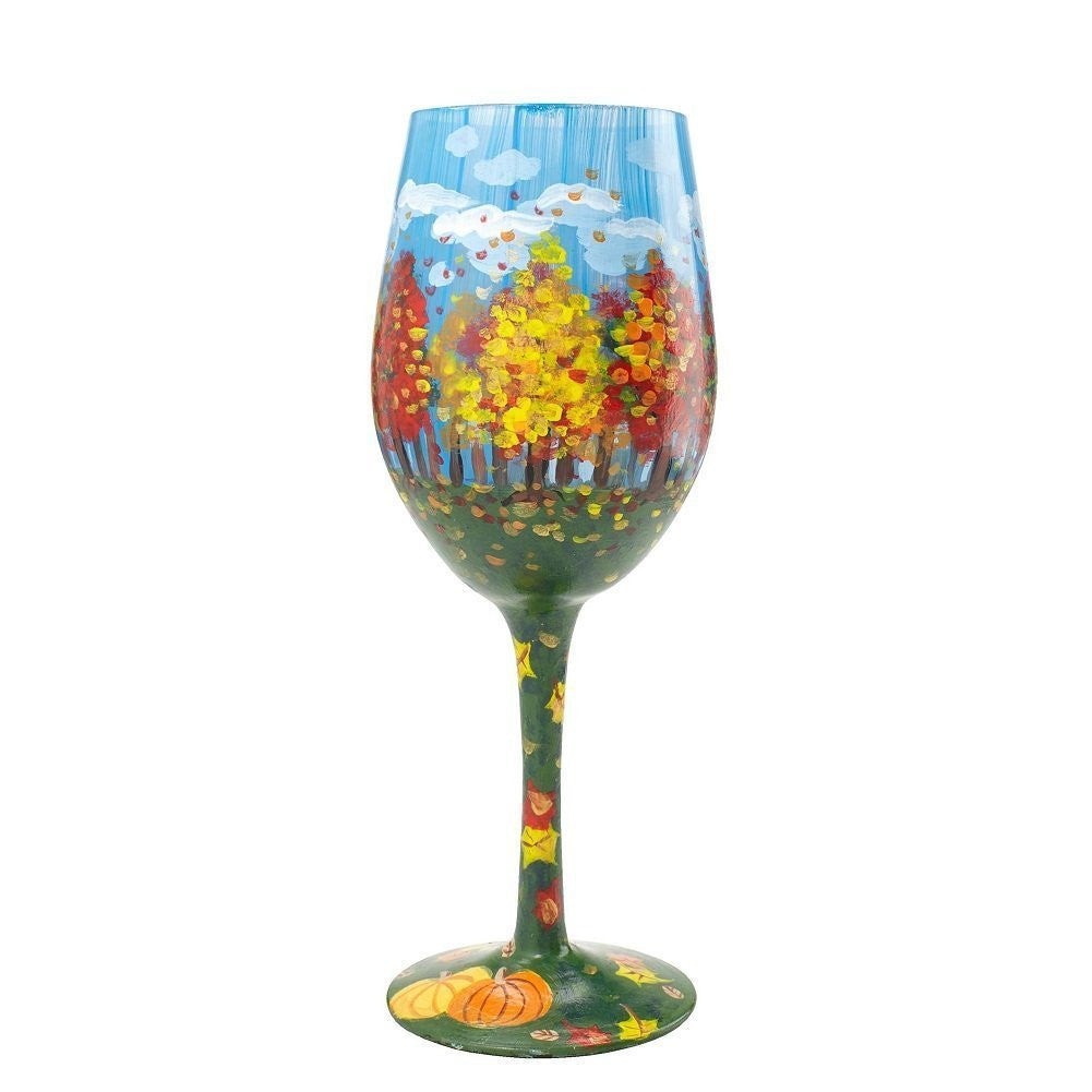 Lolita Lolita by Enesco Autumn Glory Wine Glass - DimpzBazaar.com