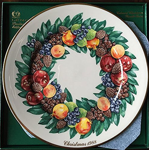 Lenox Lenox 1988 Colonial Christmas Wreath Plate, Delaware, The Eighth Colony - DimpzBazaar.com
