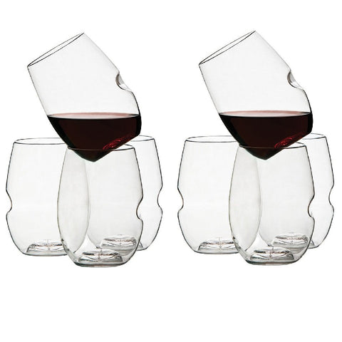 Govino GoVino Wine Glass Flexible Shatterproof Recyclable, Set of 8 - DimpzBazaar.com