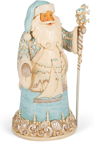 Enesco Enesco Jim Shore Heartwood Creek Coastal Santa/Sailboat Scene Figurine - DimpzBazaar.com