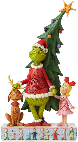 Enesco Enesco Grinch by Jim Shore Grinch, Max and Cindy by Tree Figurine - DimpzBazaar.com