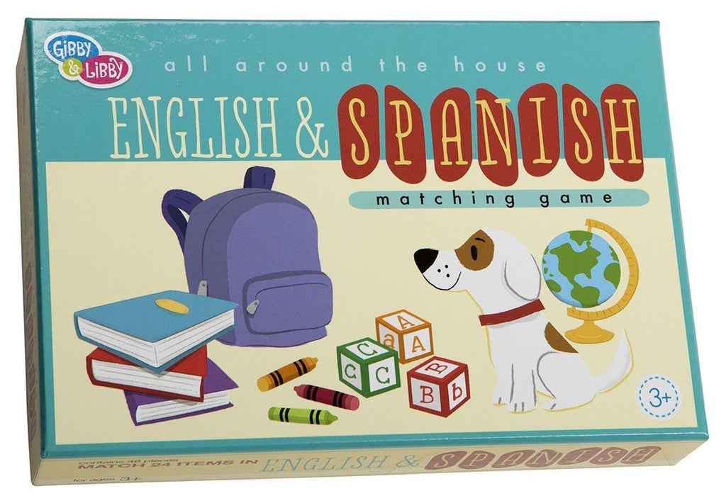 C.R. Gibson C.R. Gibson All Around The House English/Spanish Memory Matching Game by Jill McDonald - DimpzBazaar.com
